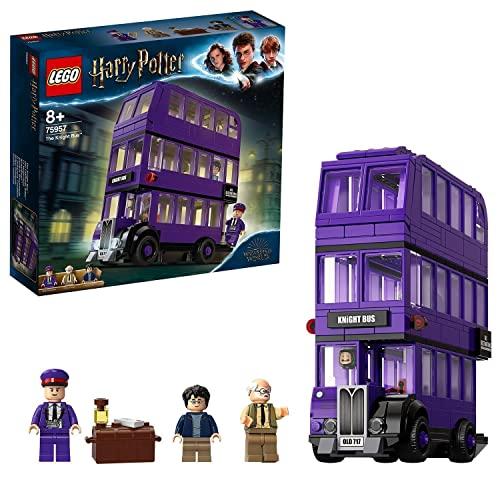 LEGO Harry Potter Nottetempo, Set da Collezione con Autobus Giocattolo a 3 Piani con Minifigure, 75957