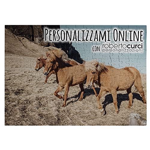 Puzzle Personalizzato con foto - Idea Regalo Decorativa per Natale, compleanno, san valentino - 28x40 cm - 192 tasselli (A3)