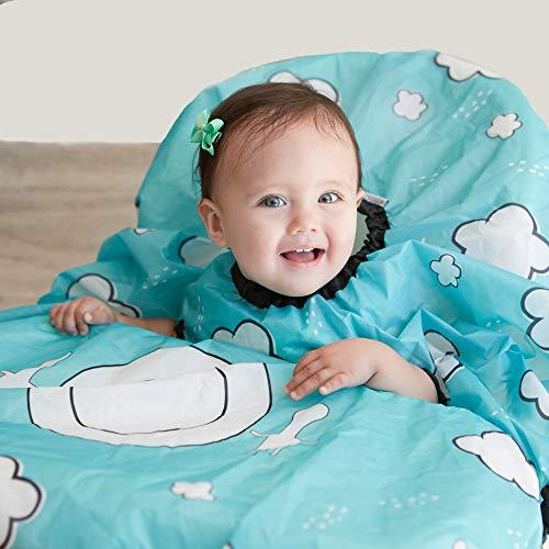 Grabease Allover - Bavaglino impermeabile per neonati e bambini da 6 a 24 Mos. - Bavaglino con profilo piatto copre completamente il bambino e il seggiolone, sicuro, lavabile in lavatrice