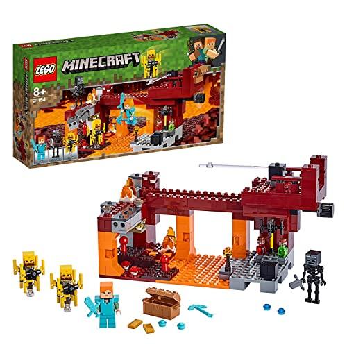 LEGO Minecraft Il Ponte del Blaze, Set per Bambini con Minifigura di Alex, uno Scheletro Wither, gli Elementi di Lava e 2 Blaze, 21154