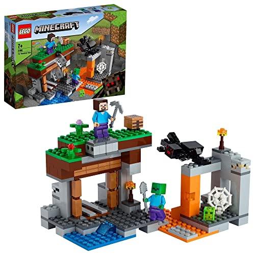 LEGO Minecraft La Miniera Abbandonata, Set di Costruzioni, Grotta di Zombi con Slime Vivente, Steve e Figure di Ragno, 21166