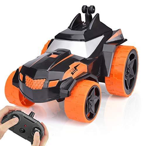 Macchina Auto Telecomandata, regalo di compleanno di Natale, auto giocattolo acrobatica con rotazione a 360° ricaricabile, monster truck da 2,4 GHz per ragazzi e ragazze di 6-12 anni, bambini