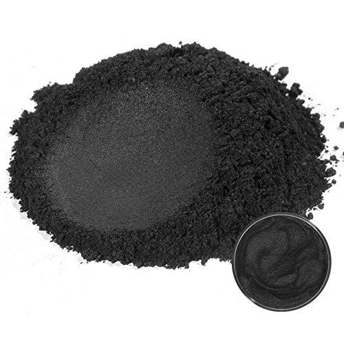 MOSUO Naturale Pigmenti Coloranti, 50g Nero Mica Polvere Colorante Polveri Perlato Glitter Pigmento Colori per Resina Epossidica, Sapone, Candele, Acquerello, Cosmetici, Tempera, Pittura