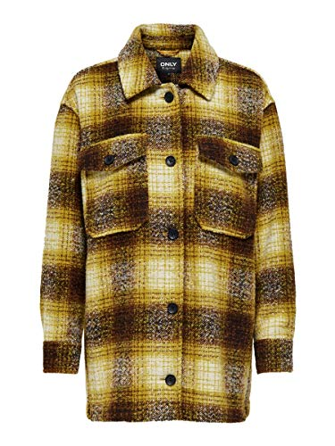 Only ONLALLISON Check Wool Shacket CC Otw Camicia, Energia Solare, L Donna